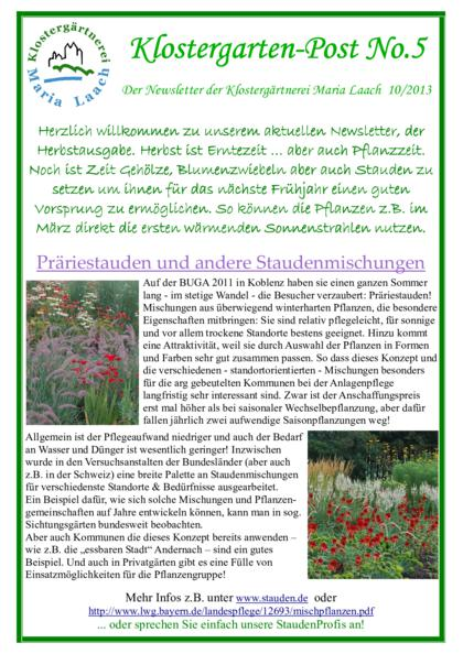 Newsletter Nr. 05/2013 (pdf, 525 KB)