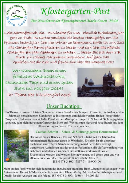 Newsletter Nr. 06/2013 (pdf, 1,0 MB)