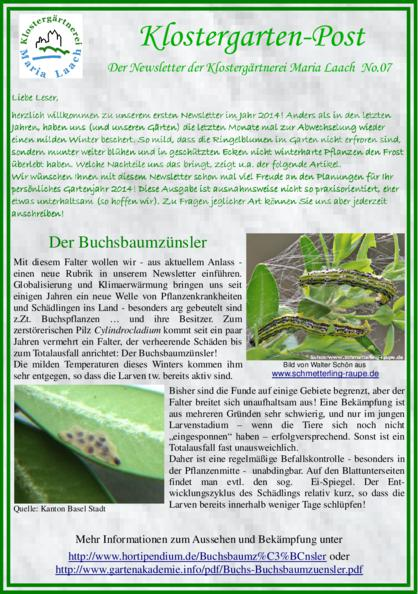 Newsletter Nr. 07/2014 (pdf, 1,4 MB)