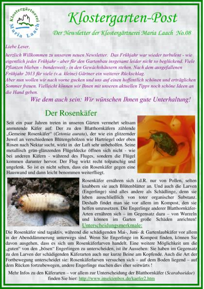 Newsletter Nr. 08/2014 (pdf, 921 KB)