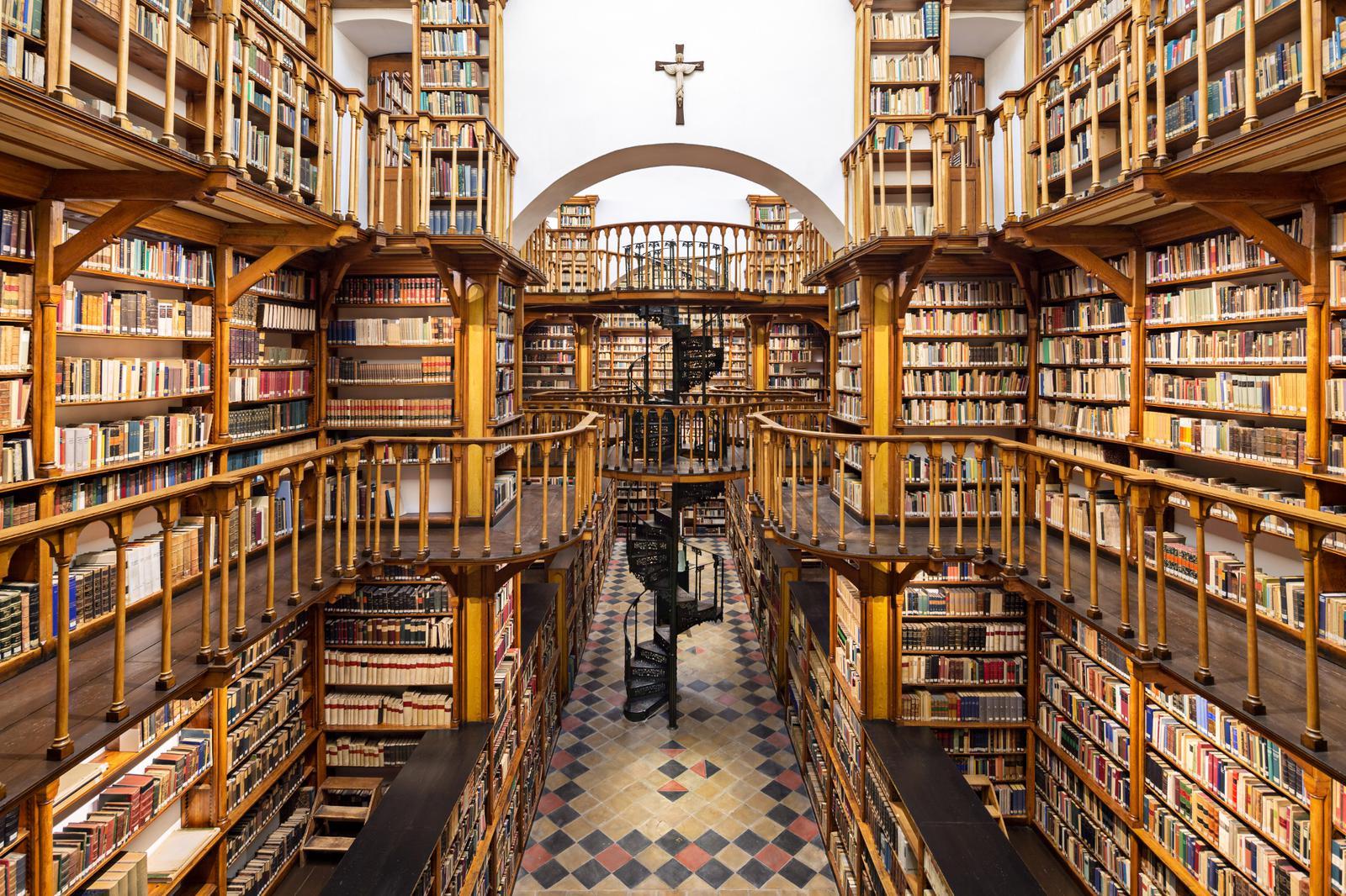 Pictures Of Bookshelves Bibliothek Benediktinerabtei Maria Laach